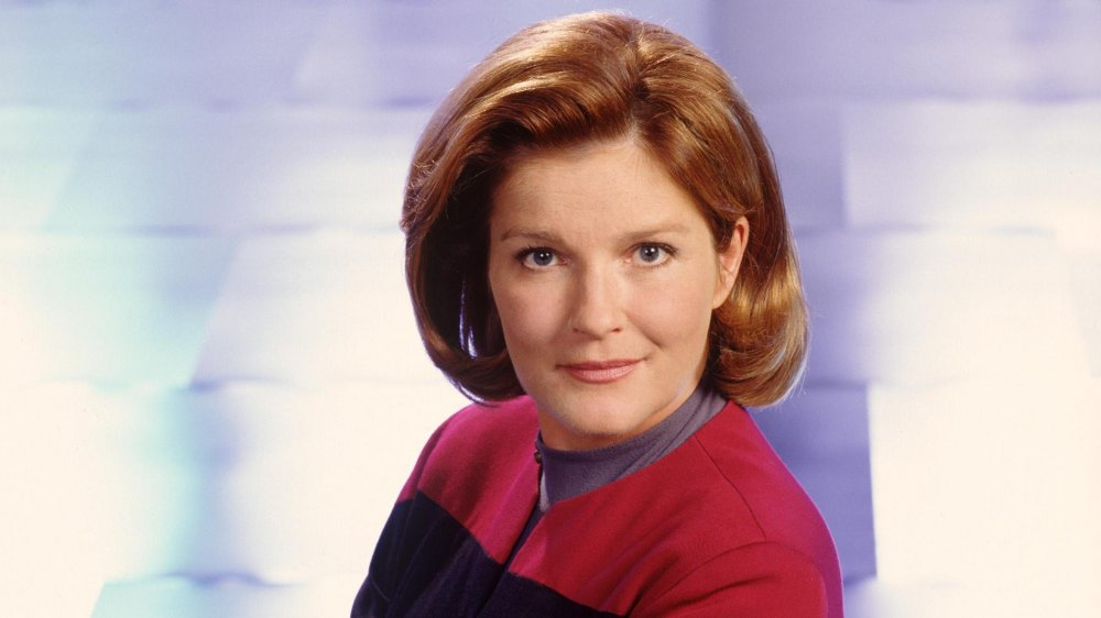 Kate Mulgrew as Captain Kathryn Janeway on Star Trek: Voyager