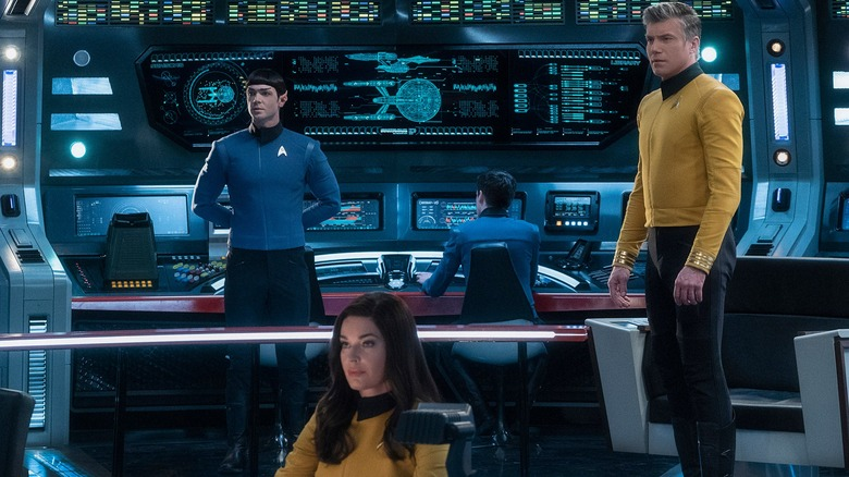 Captain Pike, Number One, and Spock on Star Trek: Discovery