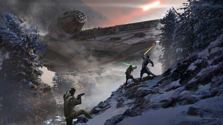 Darth Vader And Luke Concept Art