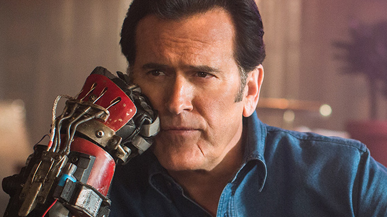Bruce Campbell as Ash Williams on Ash vs. Evil Dead