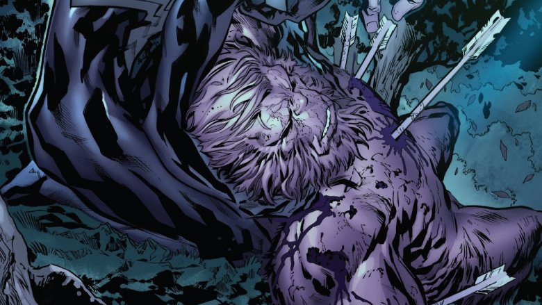 Gibbon dying in Spider-Man's arms in Amazing Spider-Man #18.HU