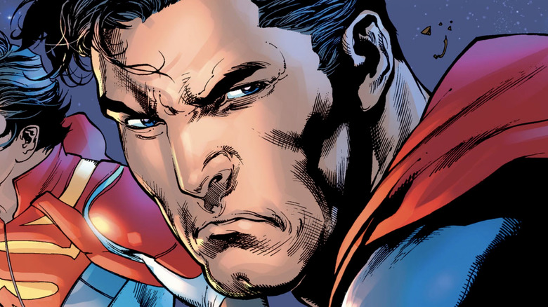 Superman angry frowning