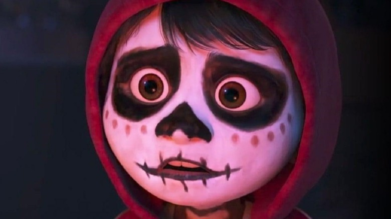 Miguel in Day of the Dead face paint