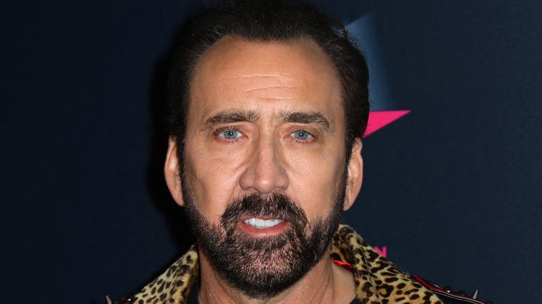 Nicolas Cage smiling