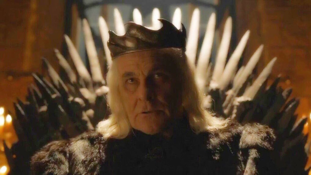 Aerys Targaryen on the Iron Throne
