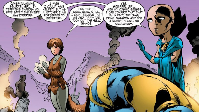 Squirrel Girl and Thanos