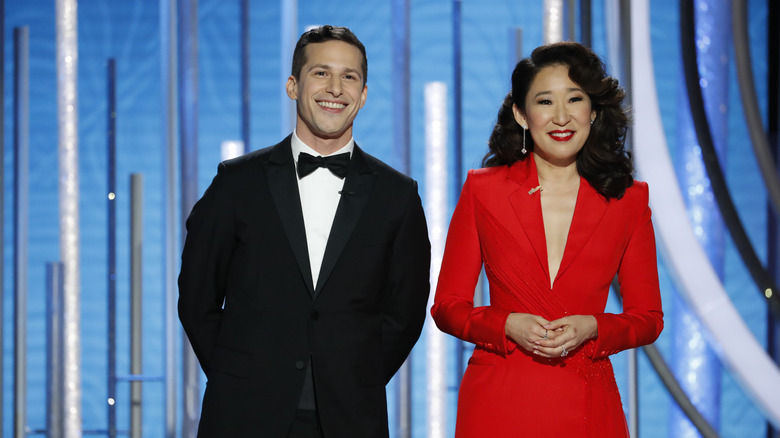 Andy Samberg and Sandra Oh