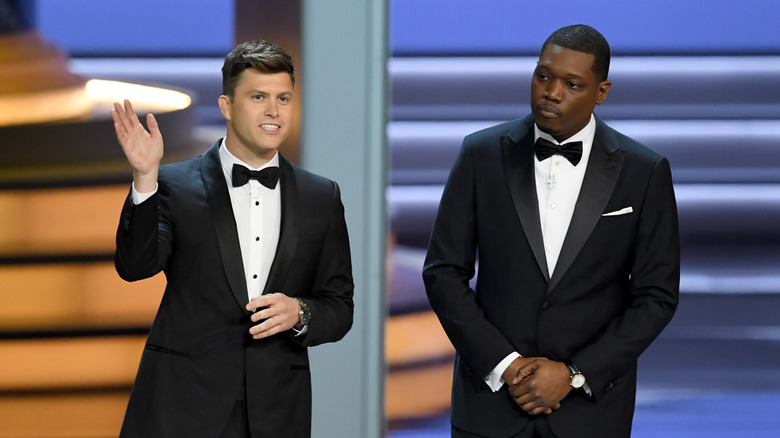 Colin Jost and Michael Che at the Emmys