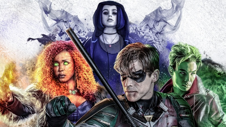 DC Universe promotional poster for live-action Titans series.