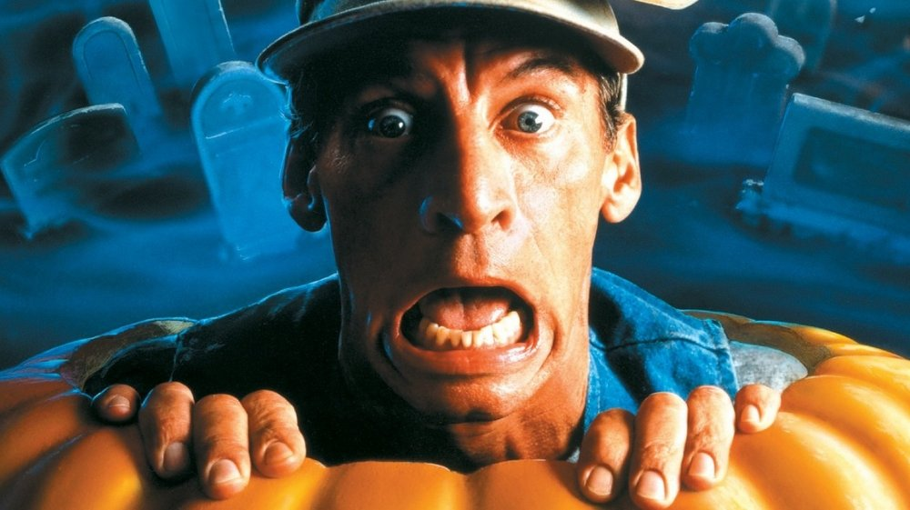 Jim Varney as Ernest P. Worrell in the poster for Ernest Scared Stupid
