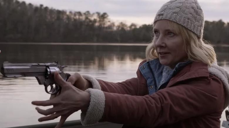 Anne Heche aiming gun