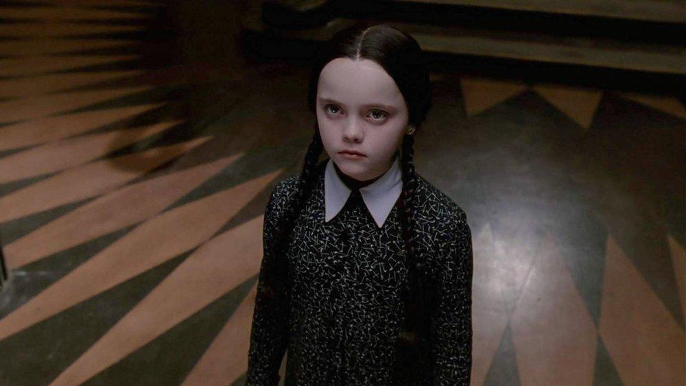Christina Ricci as Wednesday Addams in the 1990 Addams Family movie