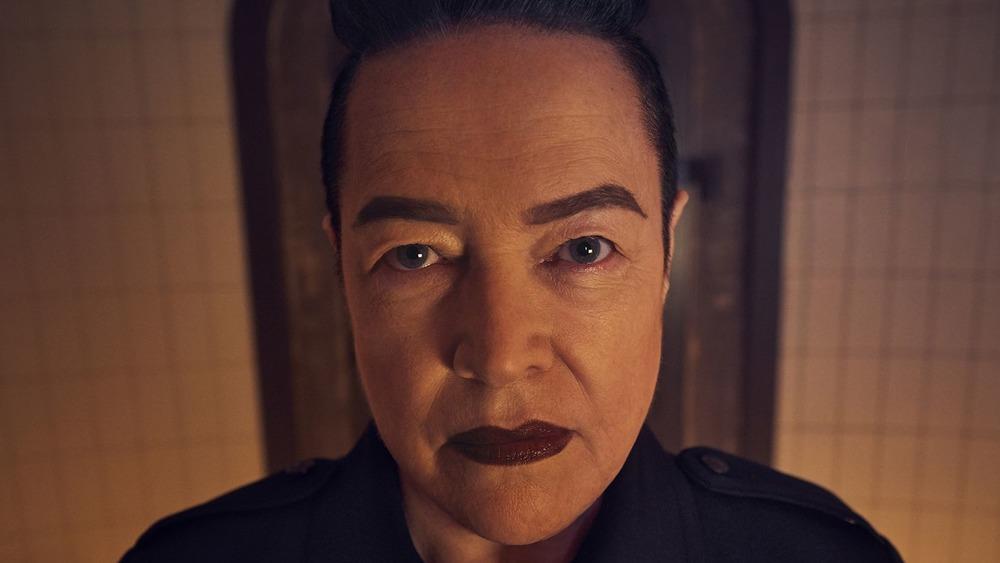 Miriam Mead looking menacing