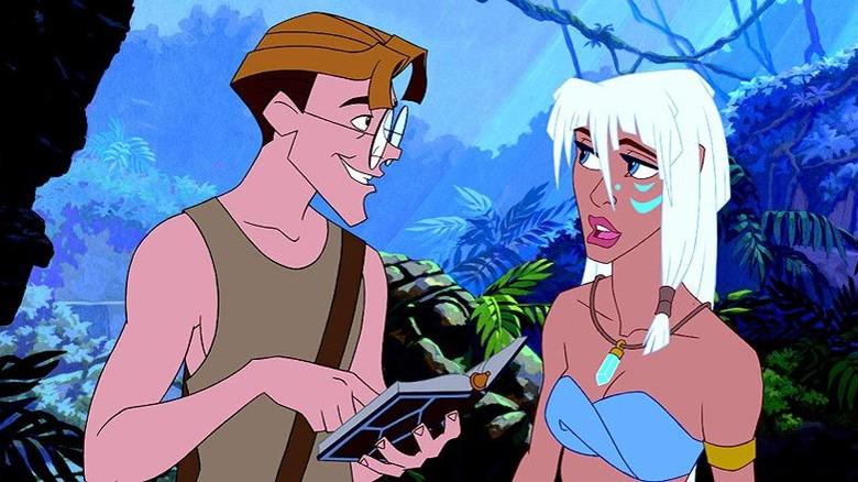 Milo and his Atlantean love interest in Atlantis: The Lost Empire