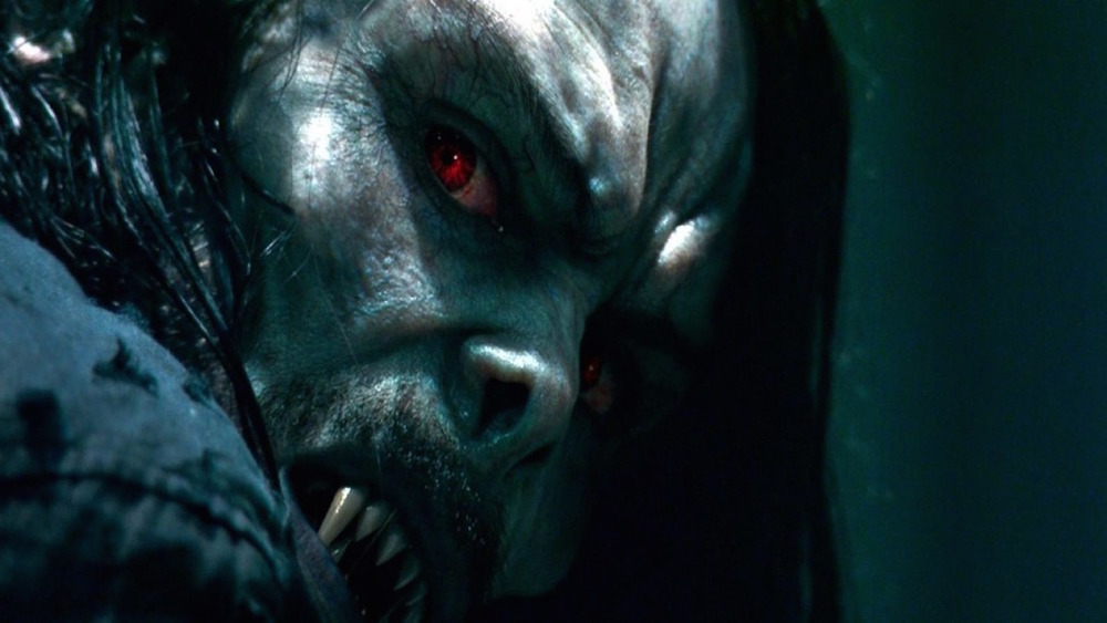 Morbius eyeing his prey in promo art