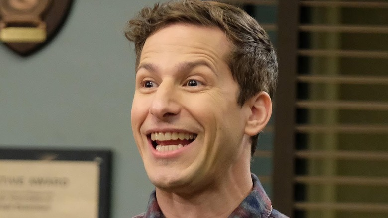 Andy Samberg Jake Peralta smiling