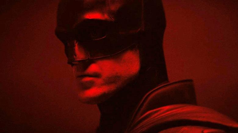 Robert Pattinson in costume for The Batman