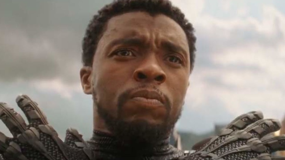 Chadwick Boseman Black Panther arms crossed