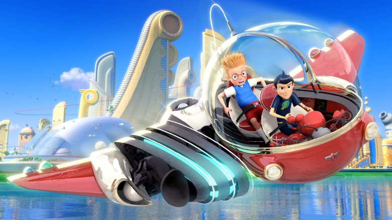 Lewis and Wilbur take a wild ride in Meet the Robinsons