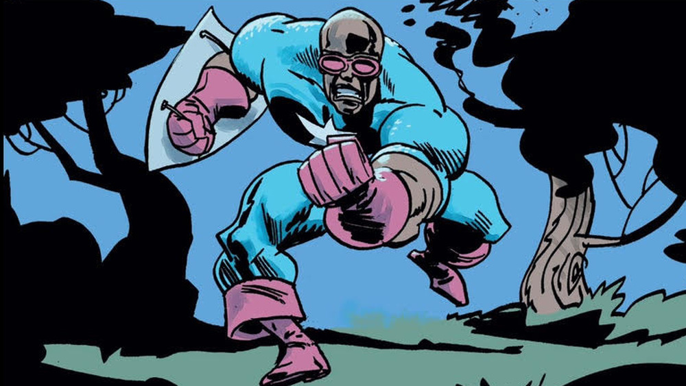 Isaiah Bradley clenching fist