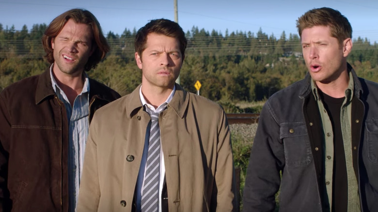 Dean Winchester, Sam Winchester, and Castiel on Supernatural