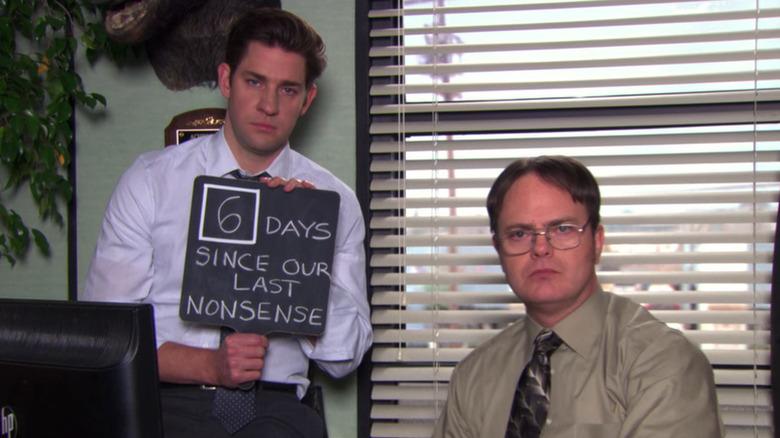 John Krasinski and Rainn Wilson in The Office