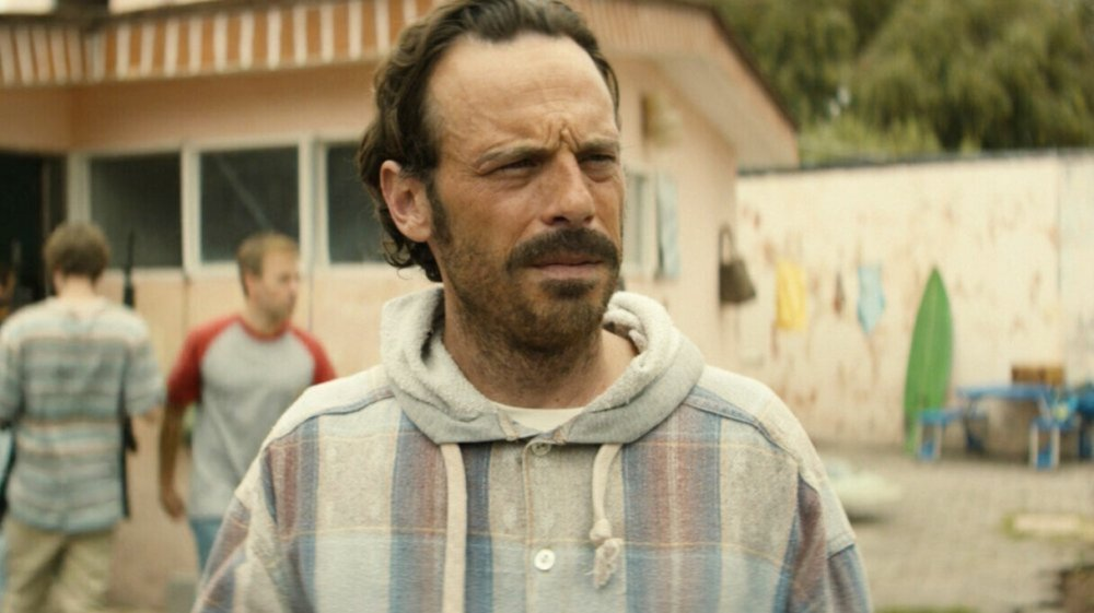 A questioning look from Walt, the Narcos Mexico star