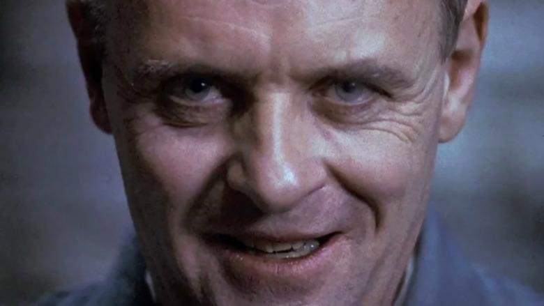 Hannibal Lecter smiling at the camera