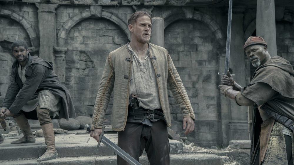 King Arthur holding sword