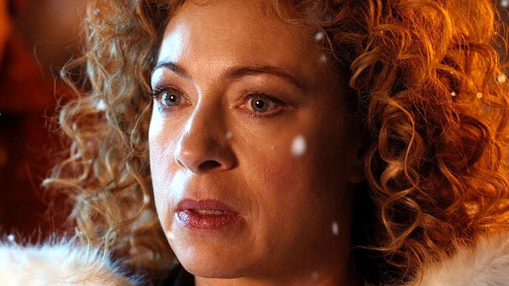 River Song looking concerned on Doctor Who