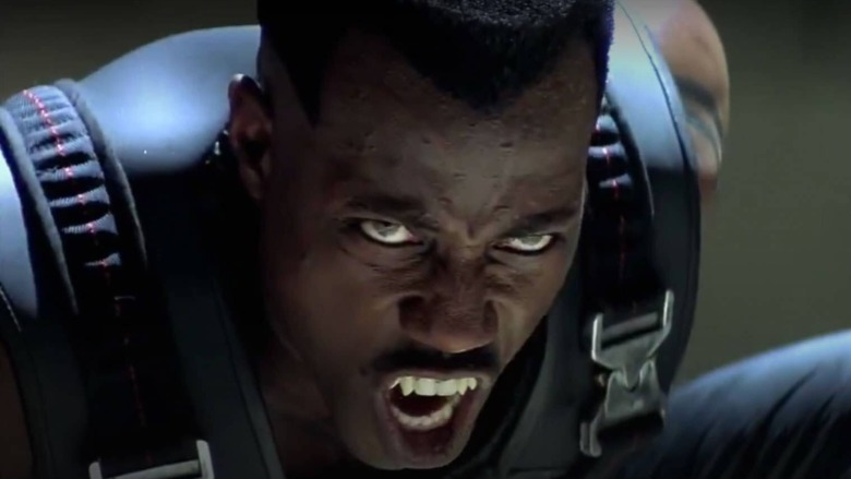 Wesley Snipes showing fang