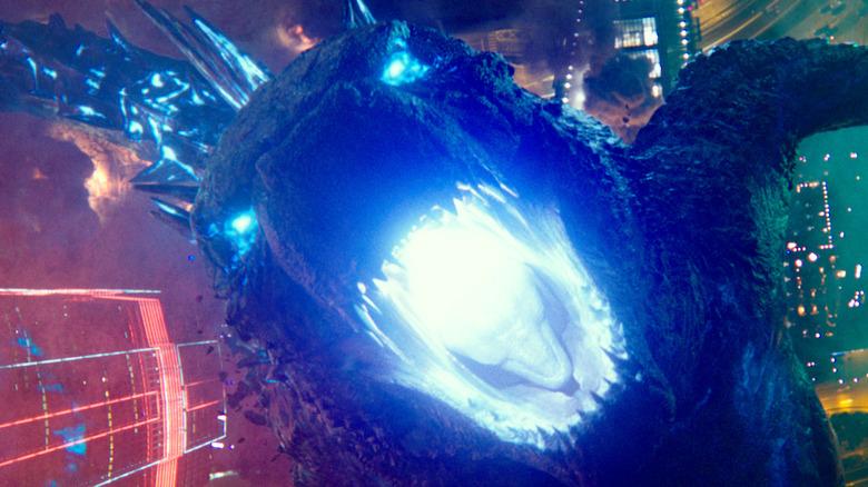 Godzilla lights it up