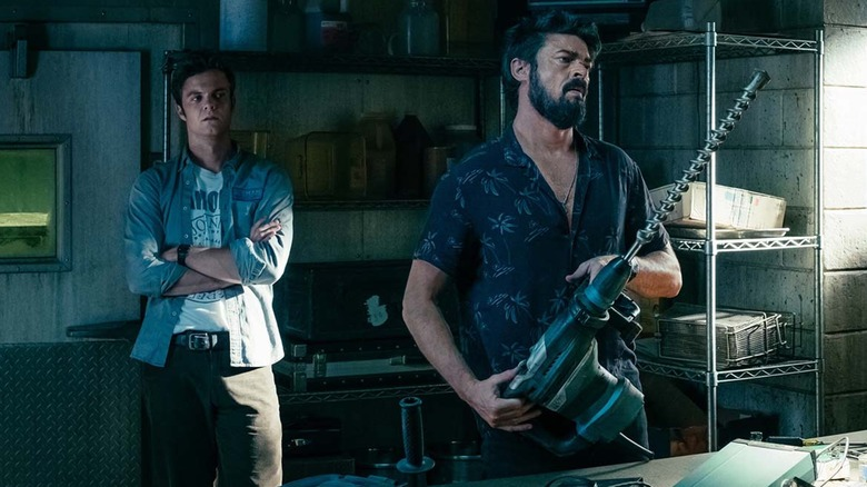 Jack Quaid and Karl Urban in The Boys