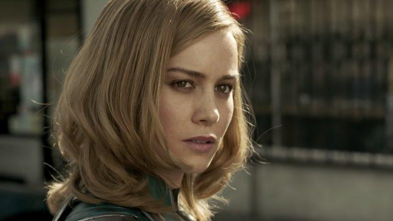 "Brie Larson Captain Marvel deleted scene ""What, no smile?"""
