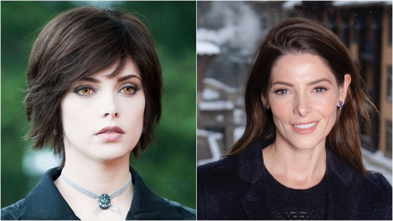 Ashley Greene in Twilight (L) and a 2020 press photo (R)