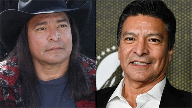 Gil Birmingham in Twilight (L) and at a 2020 press event (R)