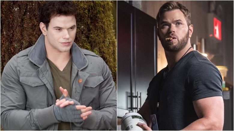 Kellan Lutz in Twilight (L) and Most Wanted (R)
