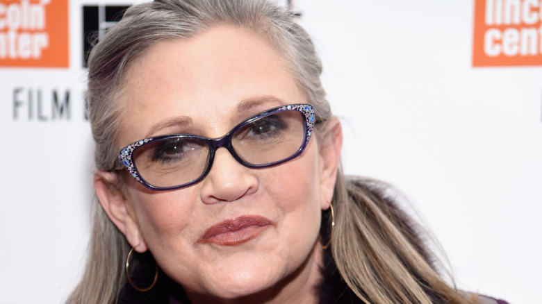 Carrie Fisher at Lincoln Center red carpet