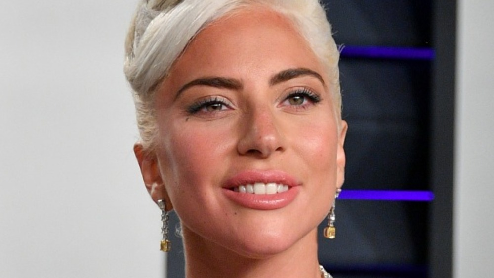 Lady Gaga grinning