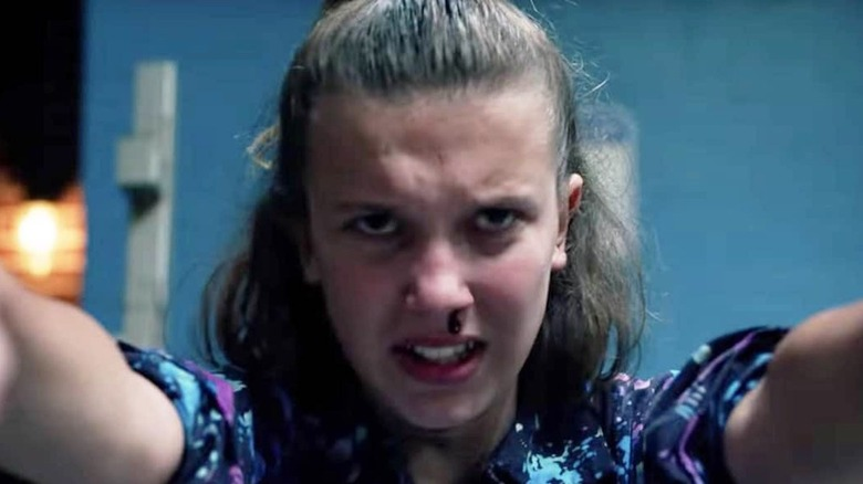 Eleven using her powers
