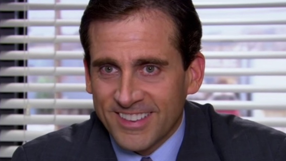 Michael Scott smiling