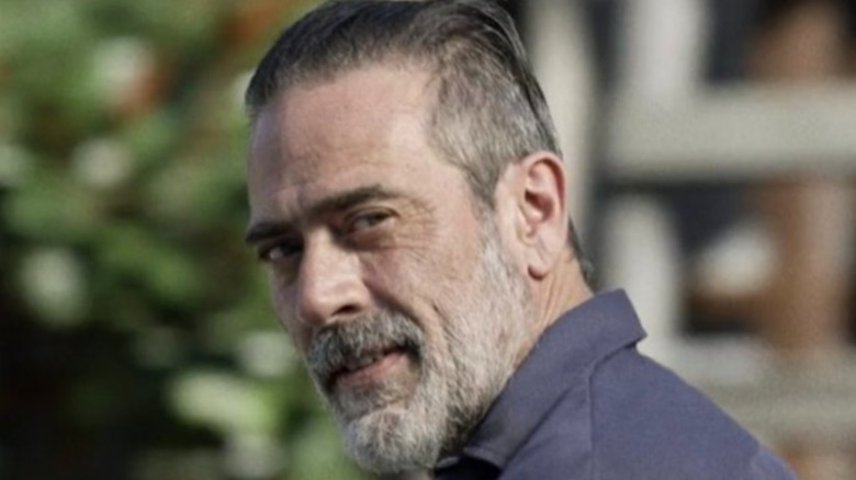 Negan looking over his shoulder