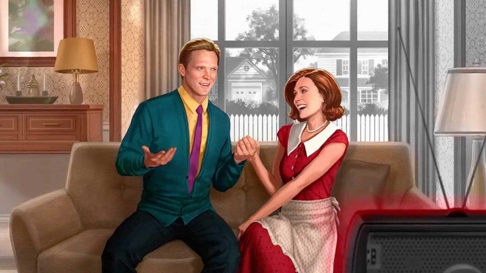 Elizabeth Olsen and Paul Bettany star in WandaVision