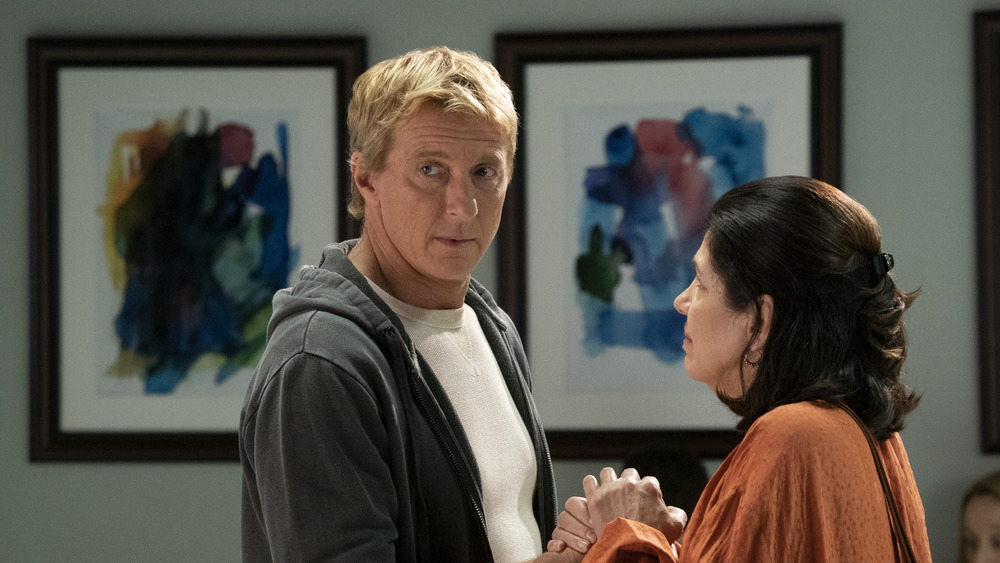 Johnny Lawrence with Rosa in the hospital