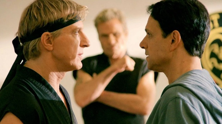 William Zabka, Martin Kove, and Ralph Macchio on Cobra Kai