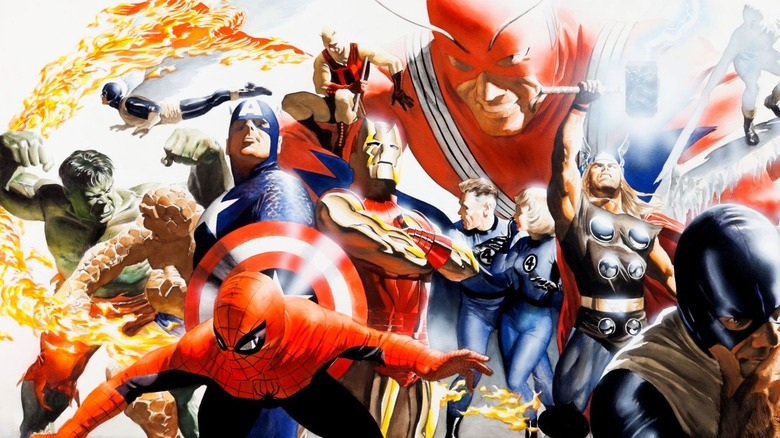 Marvel superheroes by Alex Ross