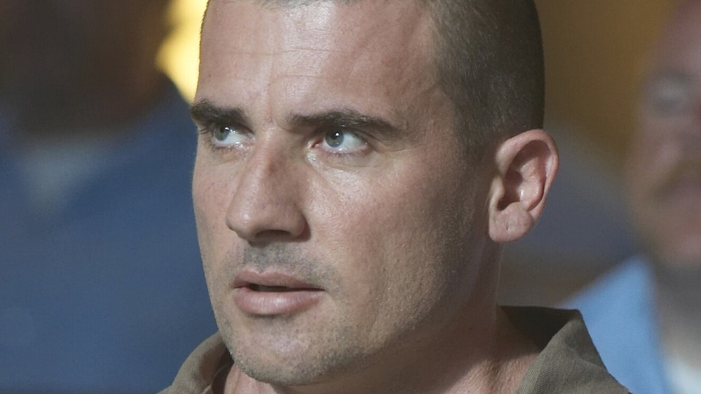 Dominic Purcell glaring