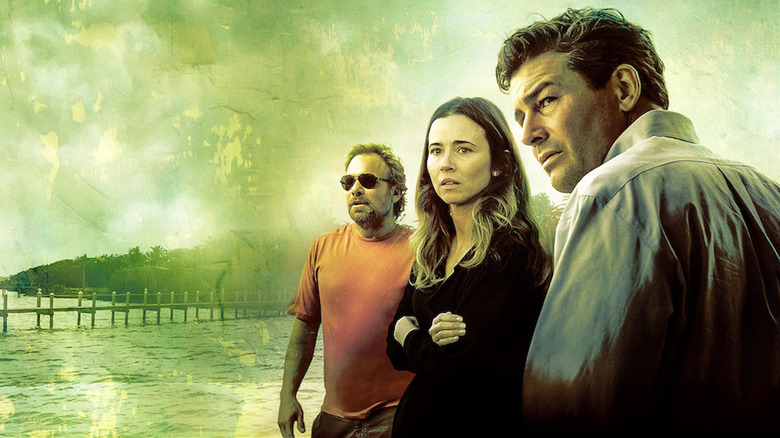 Norbert Leo Butz, Linda Cardellini, and Kyle Chandler in Bloodline promo materials