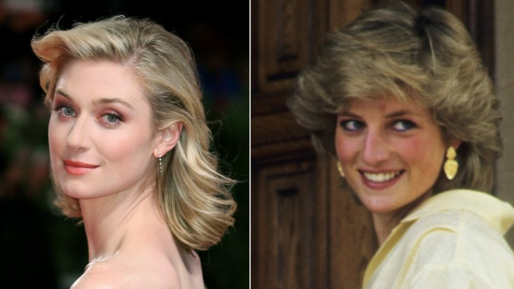 Elizabeth Debicki and Princess Diana