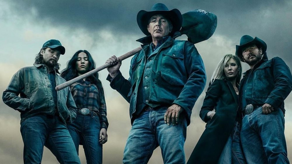 A promo image featuring the cast of Yellowstone season 3